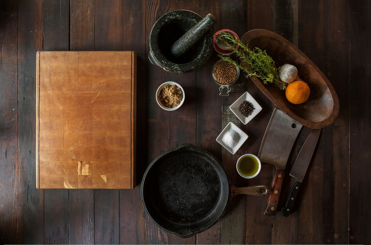 Cooking ingredients on a table