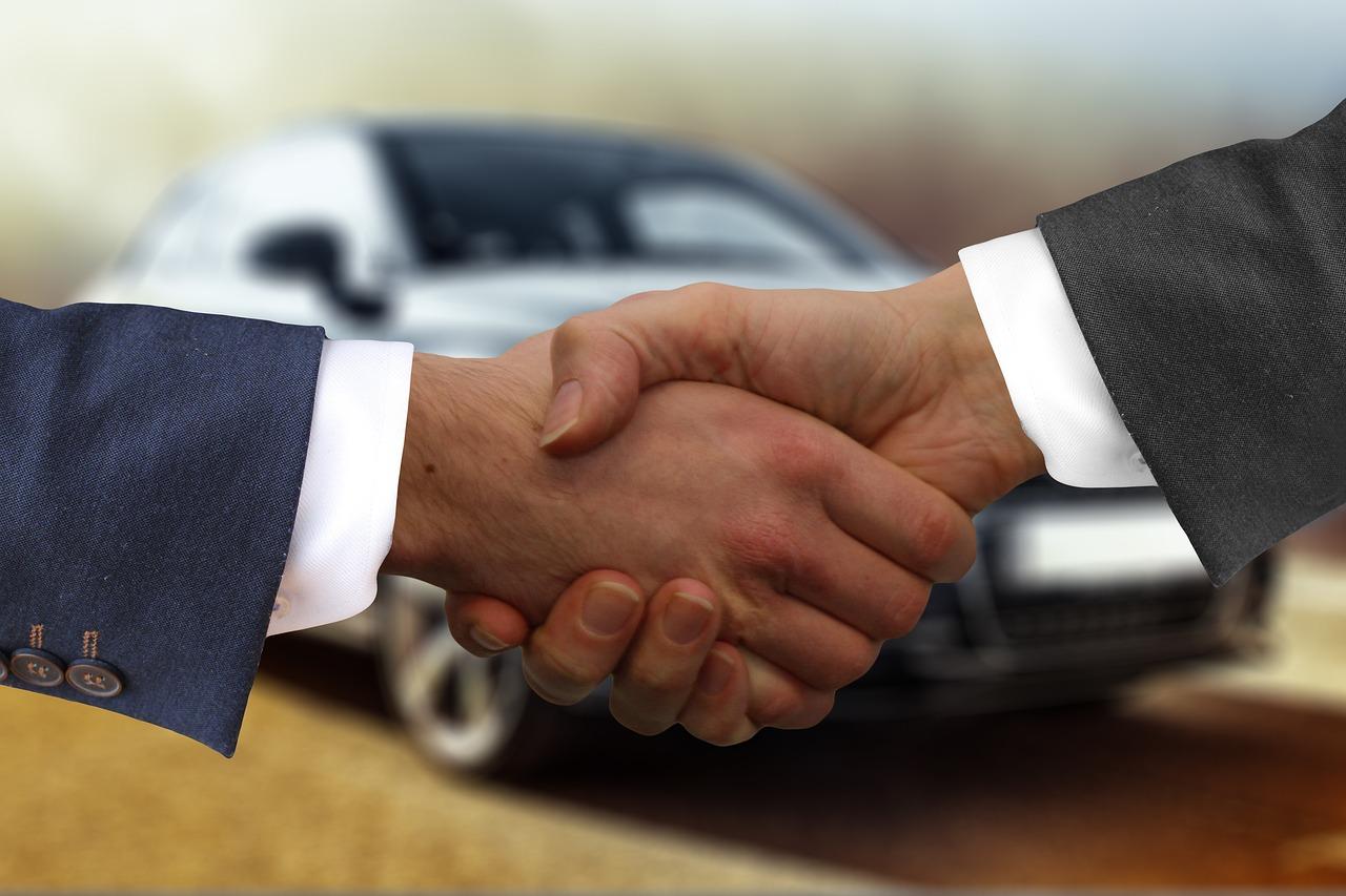 Handshake sale
