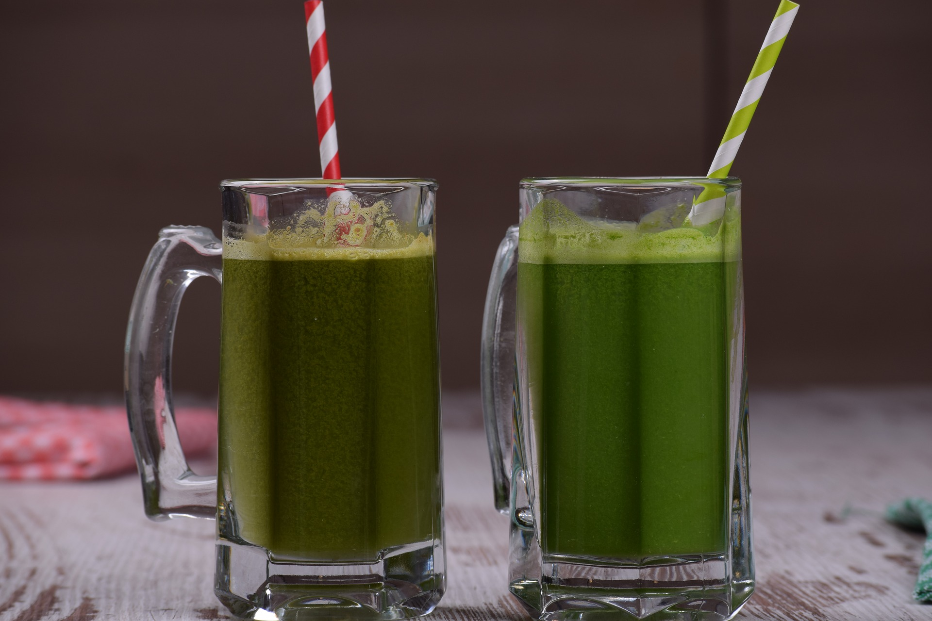 two green juices