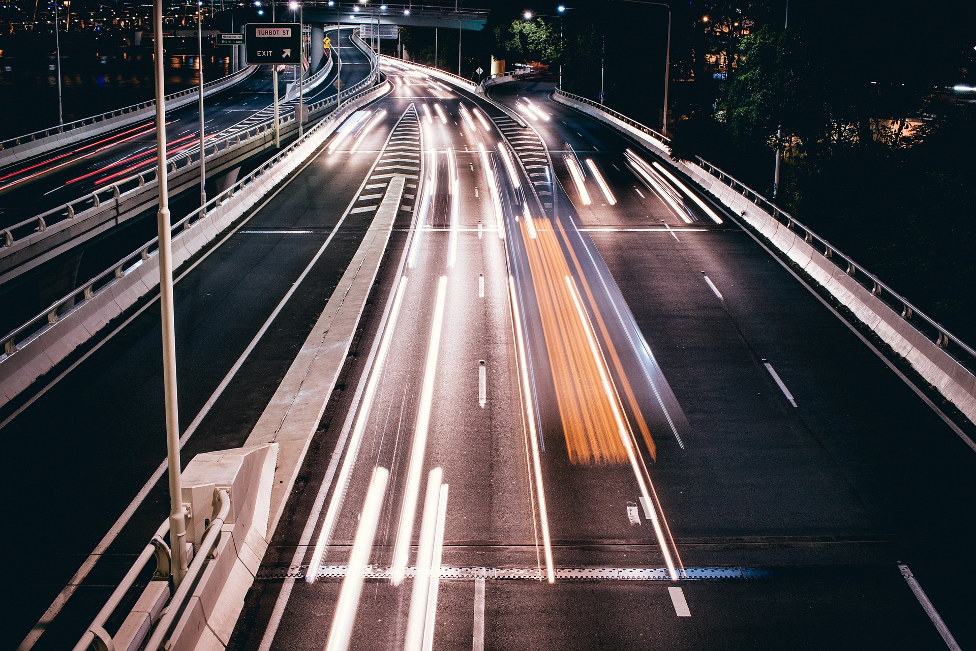 highway at night speed